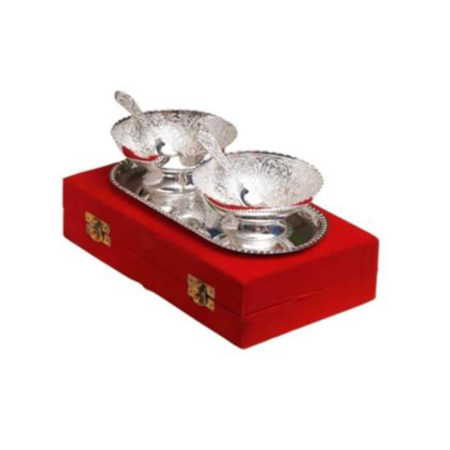Silver Plated Round Bowl Set