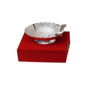 Silver Plated Bowl Elephant Design