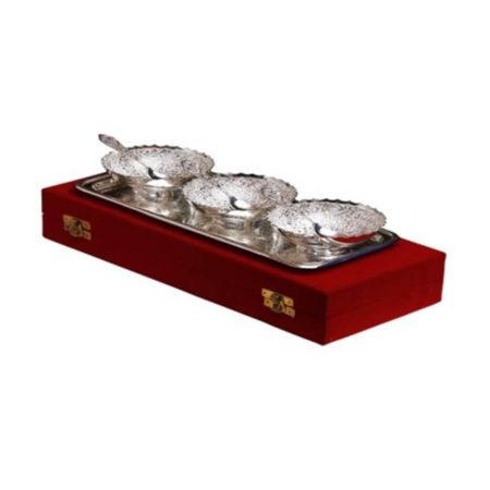 Silver Plated Brass Bowl Set 7 Pcs