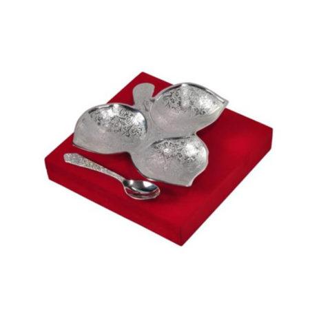 Silver Plated Three Khand Platter