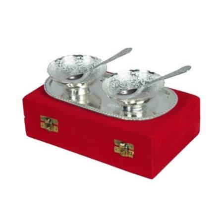 Silver Plated Designer Bowl Set