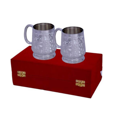 Silver Plated Brass Coffee & Beer Mug Set