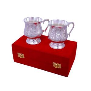 Silver Plated Brass Coffee/ Beer Mug Set