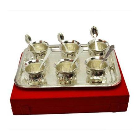 Silver Plated Brass Handi Set