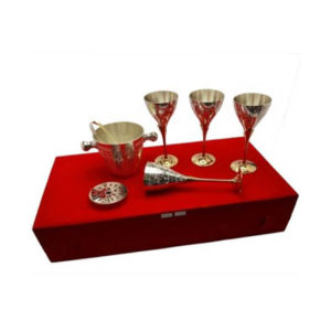 Silver Plated Brass Wine Glass