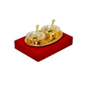 Golden Plated Brass Bowl Set
