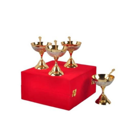 Silver & Gold Plated Ice Cream Bowl Set