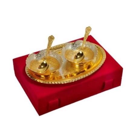 Silver & Gold Plated Designer Bowl