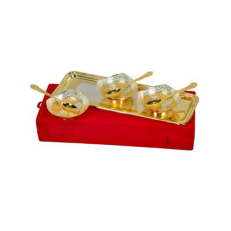 Golden Plated Bowl Set 7 Pcs