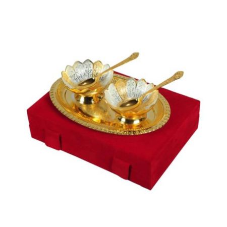Golden Plated Bowl 5 Pieces Set