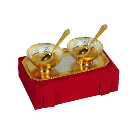 Silver Plated Bowl Set 5 Pcs