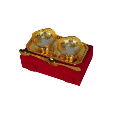 Gold Plated Designer Bowl Set