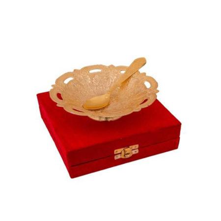 Golden Plated Designer Bowl
