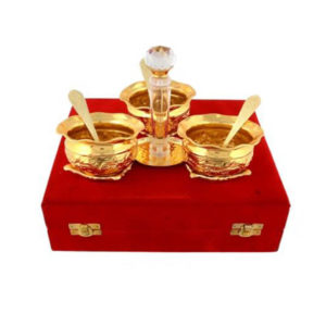 Gold Plated Brass Handi Mouth freshener Set