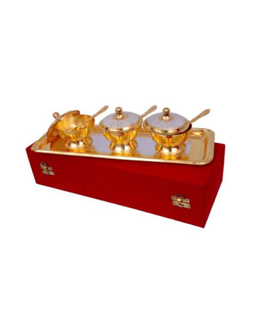 Silver & Gold Plated Brass Mouth freshener Set