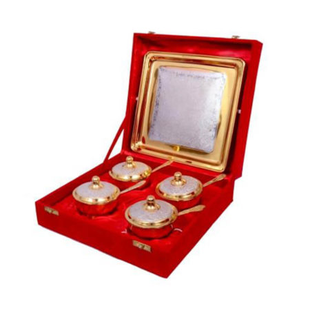 Silver & Gold Plated Mouth freshener Set
