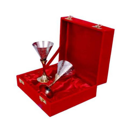 Silver Plated Small Wine Glass Set