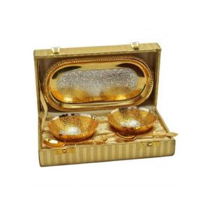 Gold Plated Bowl Set 5 Pcs