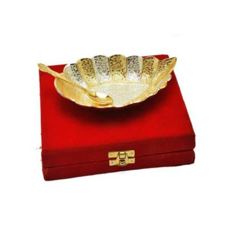 Golden Plated Cashew Shaped Platter