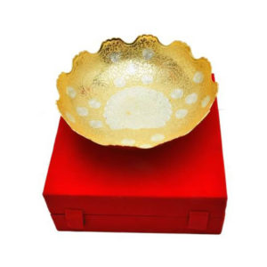Silver & Gold Plated Fruit Bowl