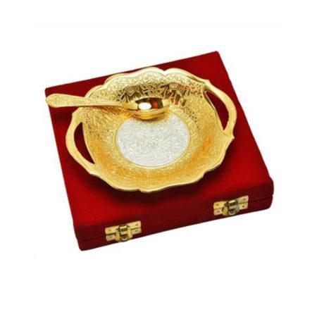 Golden Plated Brass Platter