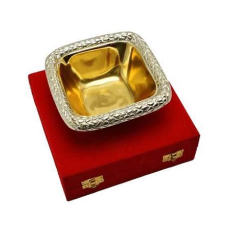 Golden Plated Brass Sheet Bowl