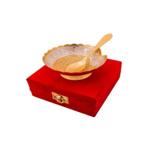Gold Silver Plated Brass Bowl