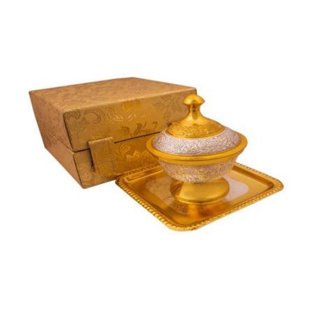 Silver & Gold Plated Brass Designer Mouth Freshener Set