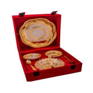 Golden Plated Brass Swan Bowls Set