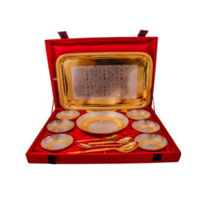 Silver & Gold Plated Brass Pudding Set