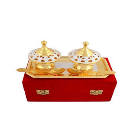 Golden Plated Brass Mouth freshener Set