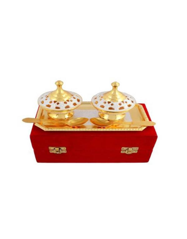 Golden Plated Brass Mouth freshener Set
