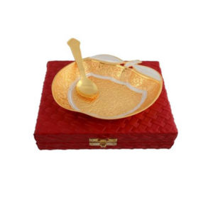 Golden Plated Apple Shaped Bowl