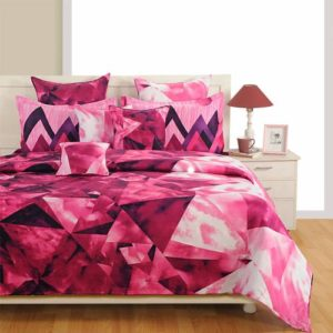 Swayam Zinnia Double Bed Sheet with 2 Pillow Cover Set