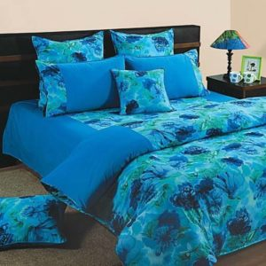 Swayam Shades of Paradise Double Bed Sheet with 2 Pillow Covers