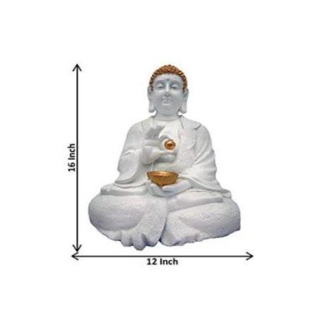 White Buddha Idol