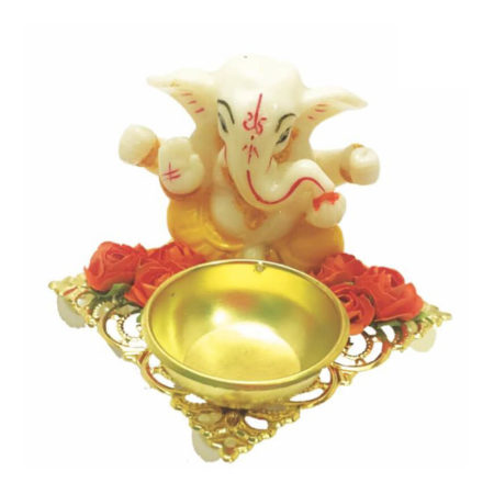 Angel Ganpati Jyot Platter