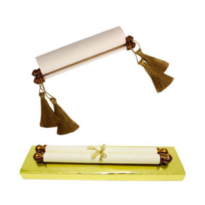 Scroll Greeting Card in Plastic Dowel Stick