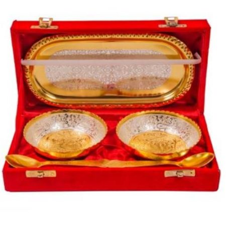 Golden Plated Tray