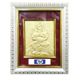 God Ganesha Golden 3D Picture Frame