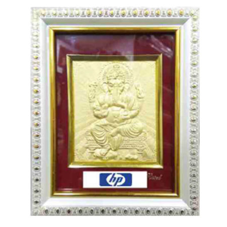 God Ganesha Golden 3D Picture Frame