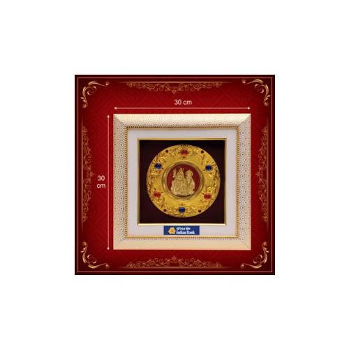 Shiv Parvati Golden God Frame
