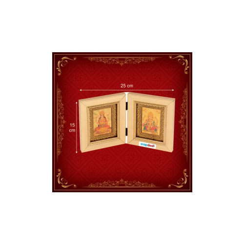 Religious Laxmi Ganesha Double Frame