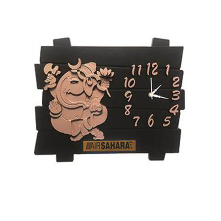 Ganesha Wooden Wall Clock