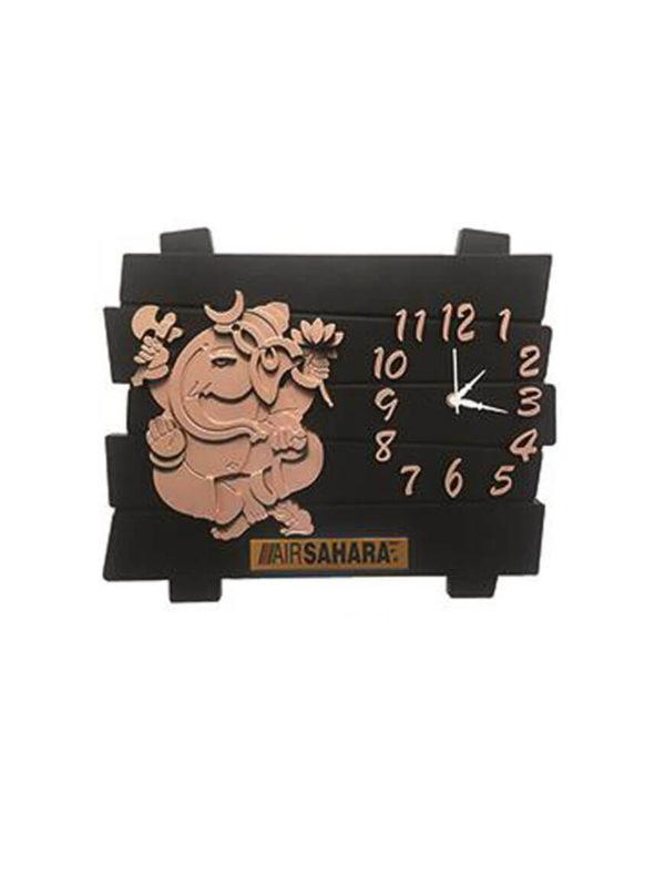 Ganesha Wooden Wall Clock