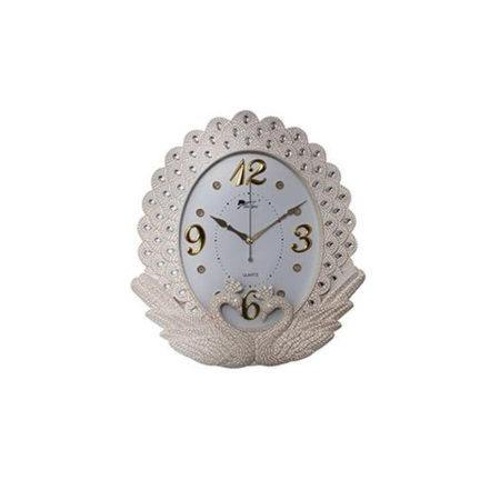 Swan Pair Silver Wall clock