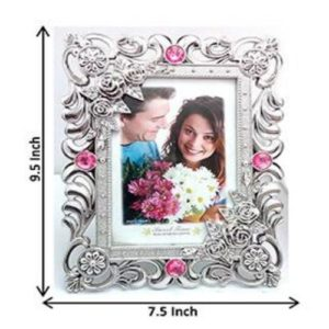 AG Pink and Silver Designer Photo frame