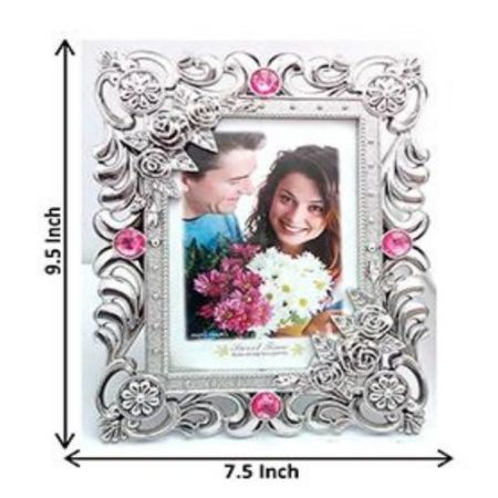 Pink & Silver Designer Photo Frame