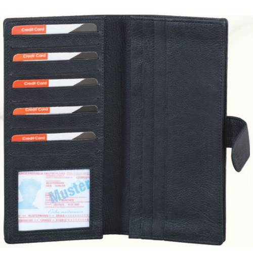 DOCUMENT HOLDER BLACK AND GREEN LEATHERITE CHEQUE BOOK HOLDER