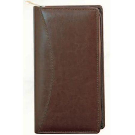 Leatherite Passport Cheque Book Holder Brown color